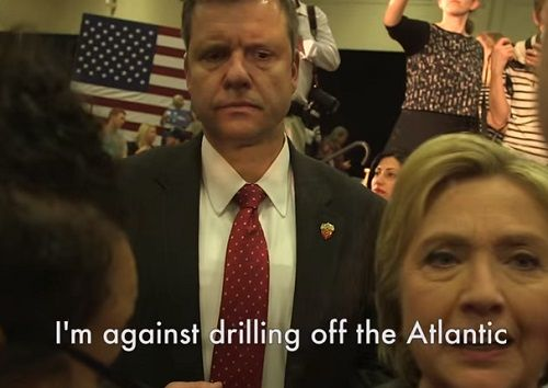 Greenpeace USA Hillary Clinton & Terry McAuliffe Against Atlantic Drilling. I'm against drilling off the Atlantic.