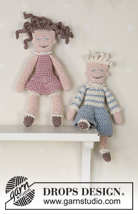 The crochet dolls Peter and Pernille