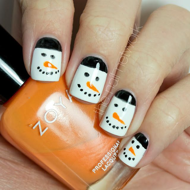 TDOCNAS: Day 3: Simple Snowman Nail Art