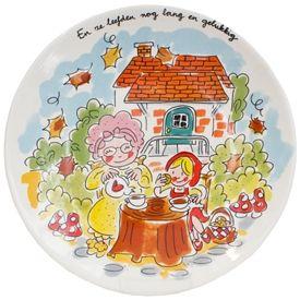Roodkapje bord door Blond-Amsterdam