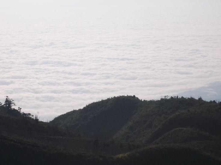 sea of clouds from prau mountain (Dieng)