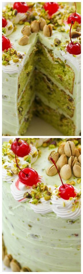 Pistachio Dream Layer Cake ~ Nutty, creamy layer cake with pistachios in both the cake as well as the buttercream frosting.