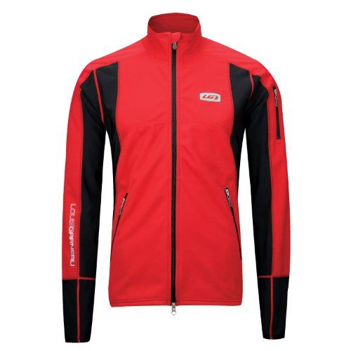 Louis Garneau Enerblock Nordic Jacket - GINGER RED, Large. Front two-way zip with inner flap and chin guard to block all points of entry for cold air 2 front pockets with reversed zip and ocket with reversed zip on left sleeve for all your storage needs Flatlock seams Front, back, and sleeve reflective logos keep you safe and visible Mp3 pocket so you can listen to sounds of the islands during an Arctic clipper. Front two-way zip with inner flap and chin guard.