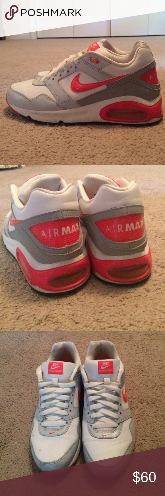 Nike air max sneakers. Size 6.5Y Boys. Fit size 8 Bought these size 6.5Y boys air max sneakers for myself. I wear a women's size 8 and they fit great. Wore a few times. Nike Shoes Sneakers