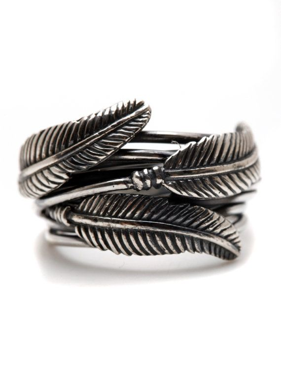 Carpe Diem 925 Sterling Silver Feather Ring Rings Wedding Engagement Band Jewelry Jewellery CDR-201 on Etsy, $139.00