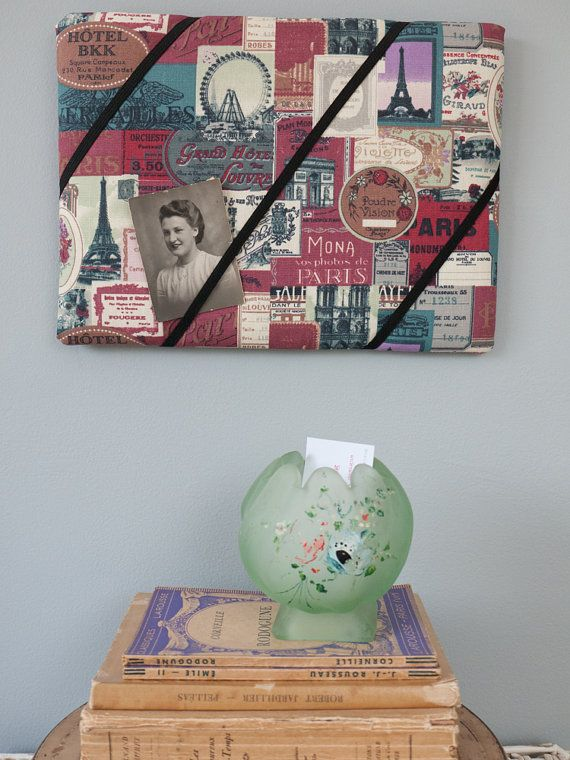 Paris vintage hotel handmade fabric bulletin/memo by freshdarling