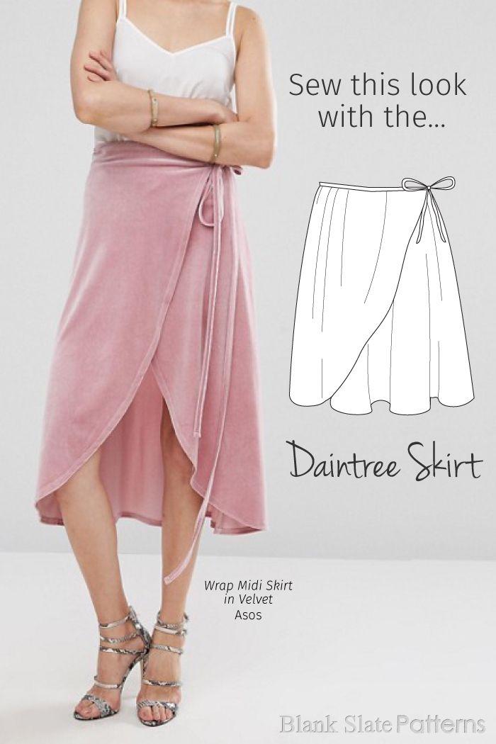 Vintage Silk Printed Asymmetrical wrap skirt One Size
