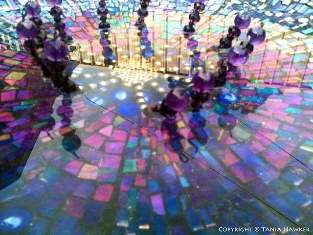 Disco-in-a-birdbath- by Tanja Hawker Mosaics, via Flickr