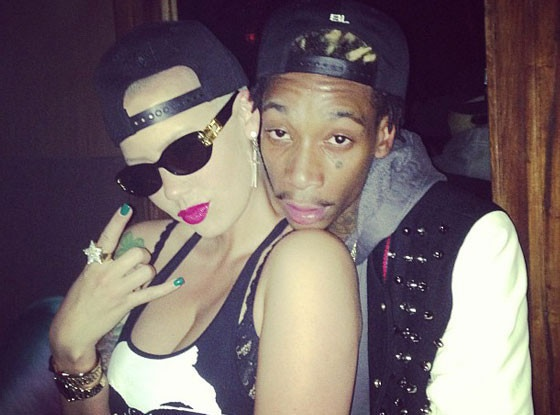 Wiz Khalifa and Amber Rose Celebrate First Night Out as Parents