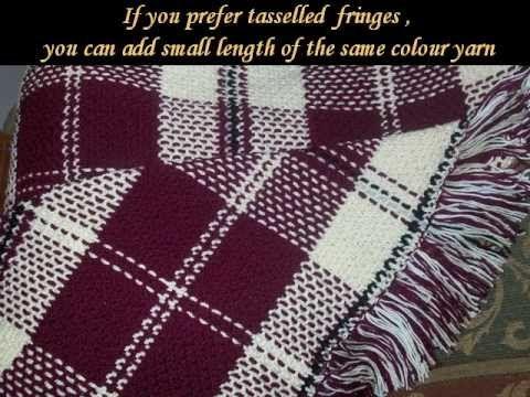 Crochet tartan blanket: Edging - YouTube