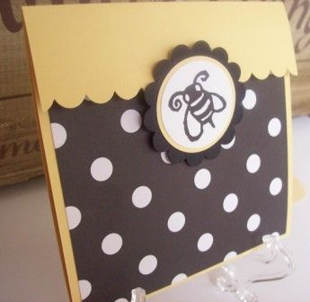 Bee Invitation, Bumble Bee Invitation perfect for Birthday or Baby Shower - set of 8. $16.00, via Etsy.
