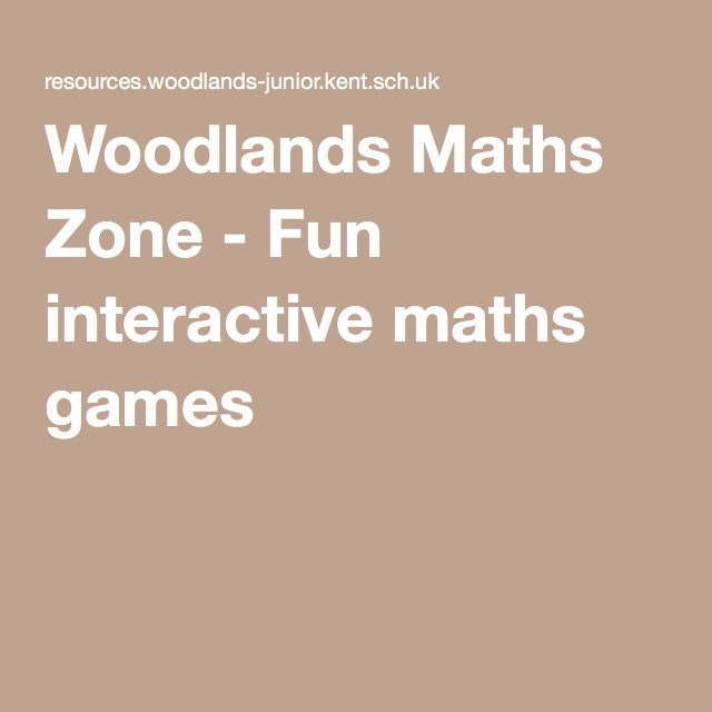 Woodlands Maths Zone - Fun interactive maths games