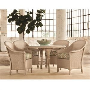 Lloyd Flanders Embassy 5 piece dining set. This traditional outdoor dining set is available in standard and premium wicker finishes with you choice of custom cushions. http://www.furnitureforpatio.com/lloydflandersembassy5pieceset.aspx