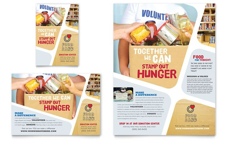 food bank flyer  u0026 ad template design