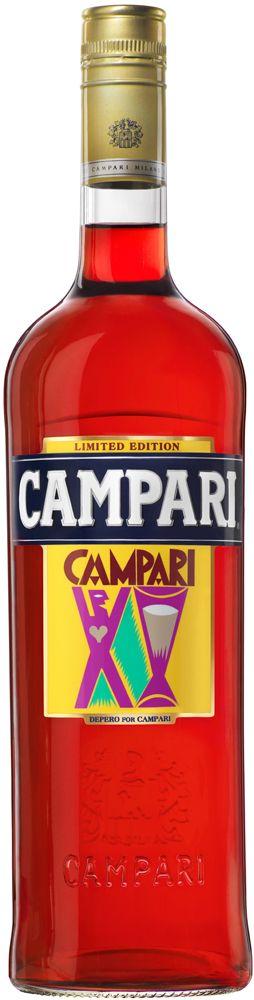 Botella Campari con nueva etiqueta