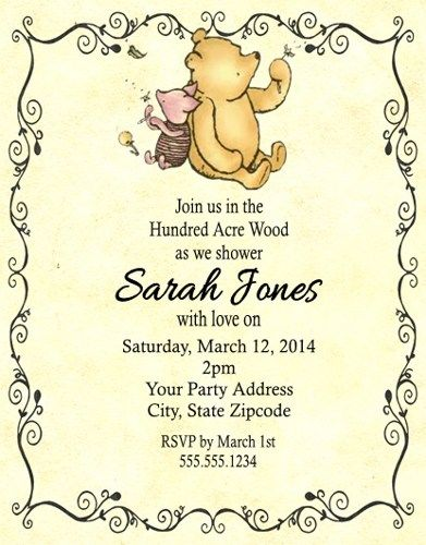 17 Best images about Winnie the pooh on Pinterest Birthday party - best of invitation for 1st birthday party free