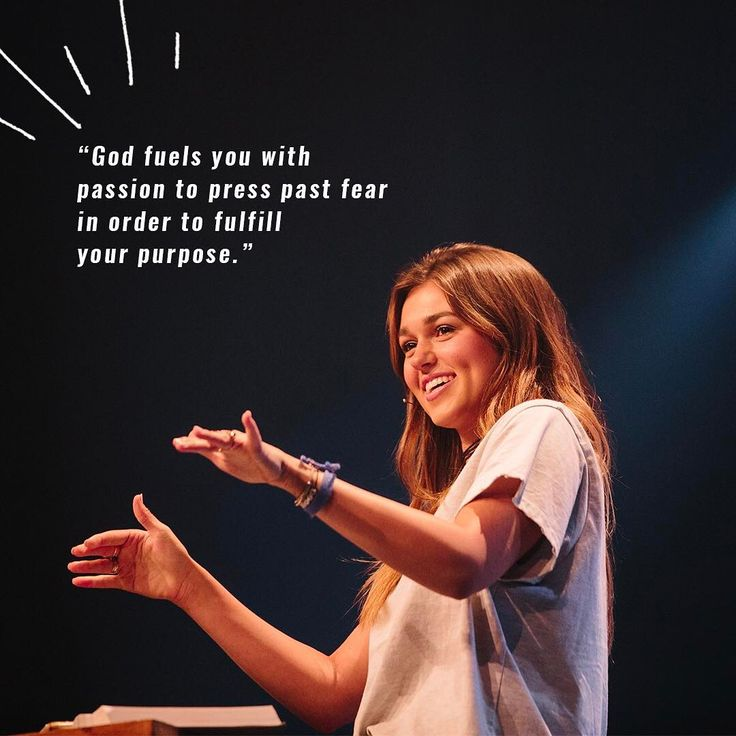 God fills you with passion to press past fear in order to fulfill your purpose .