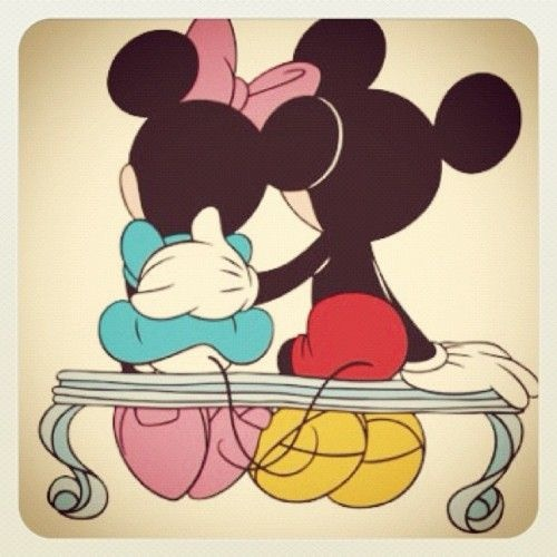 mickey & minnie - together since 1928!  I think that's a Hollywood record!