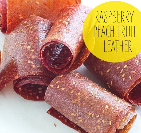 Raspberry Peach Fruit Leather - Made in the oven!
