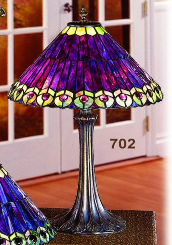 Peacock Tiffany Small Table Lamp Pst 702 This Hand Crafted Paul