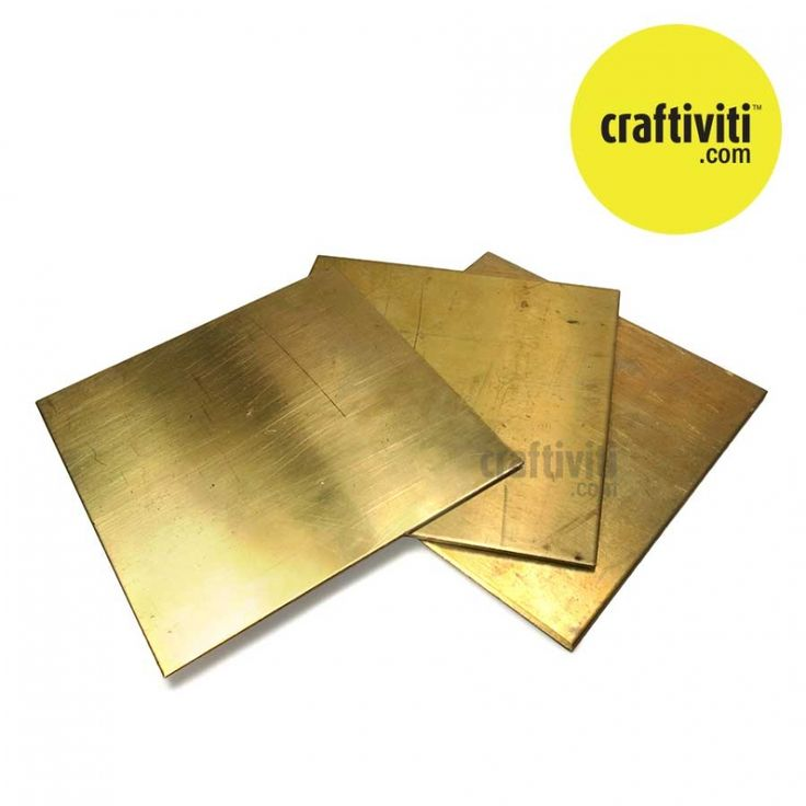 Brass Sheet 10cm x 10cm | Craftiviti l Online DIY Crafts Supplies Malaysia