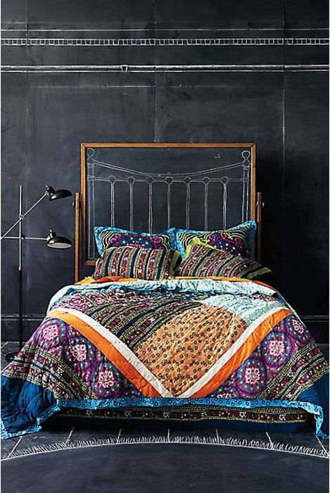 i died and this quilt killed me. ~psmoostone #bed #quilt #boho