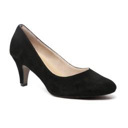 Rita dress in black suede