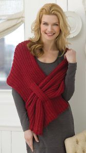 Free knitting pattern for Ribbed Slit Shawl