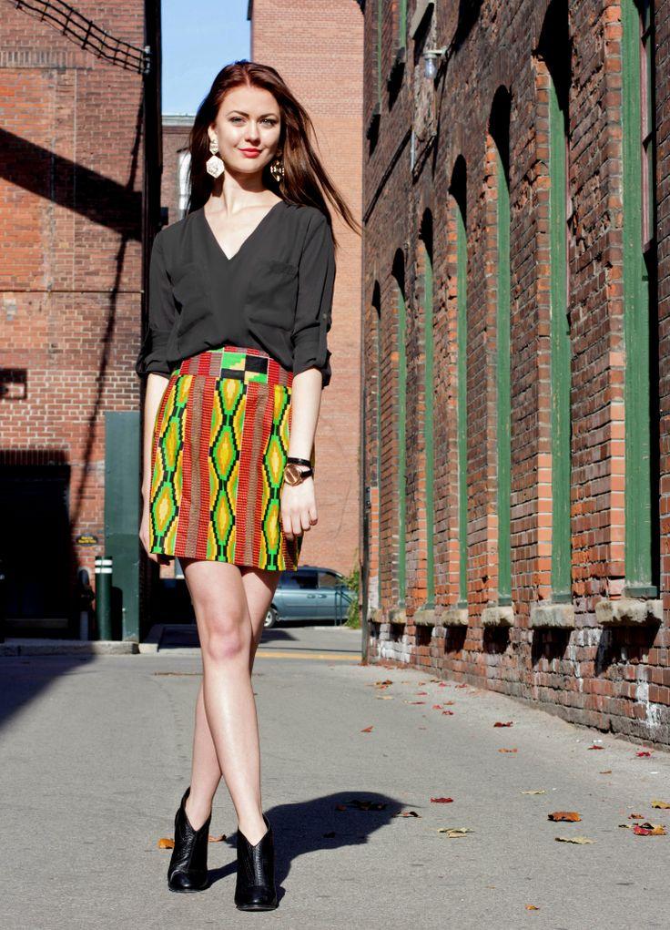 Kilambi Design skirt. Made in Kenya, designed in Canada. @Sowmya Ravindran Kilambi Design