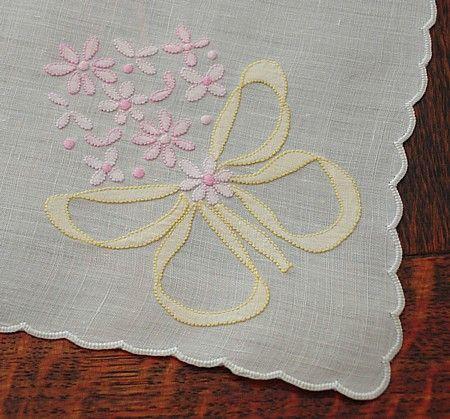 Em's Heart Antique Linens -Vintage Madeira Embroidered Organdy Placemats Napkins Set