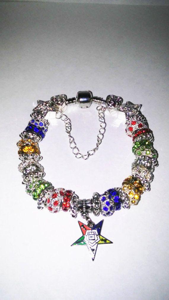 Order of Eastern Star Symbol Charm Bracelet. by Zoenias on Etsy
