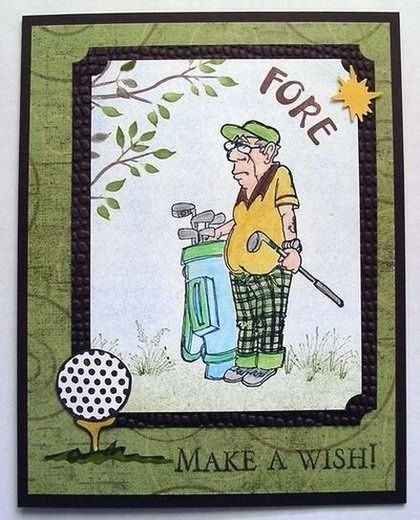 MMTPT135, Hamilton the Golfer: Man Cards, Card Making, Photo, Paper Crafts