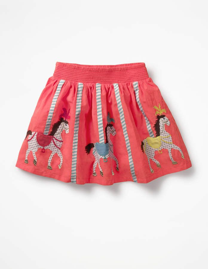 7a0a04ab05 I love this fun carousel kids skirt. Colourful Appliqué Skirt #affiliate (I  will receive a small commission if you click this link)