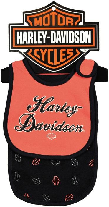Harley Davidson® Girls Baby Bib U0026 Burp Cloth Coral