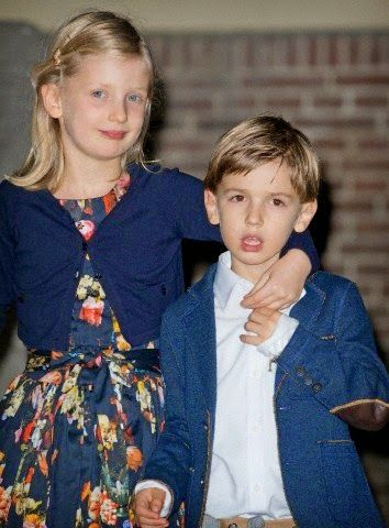 Emma and Pieter van Vollenhoven (Children of Prince Pieter-Christian and Princess Anita) attend the christening of Prince Floris' son at Palace het Loo in Apeldoorn, The Netherlands, Nov 9, 2014..