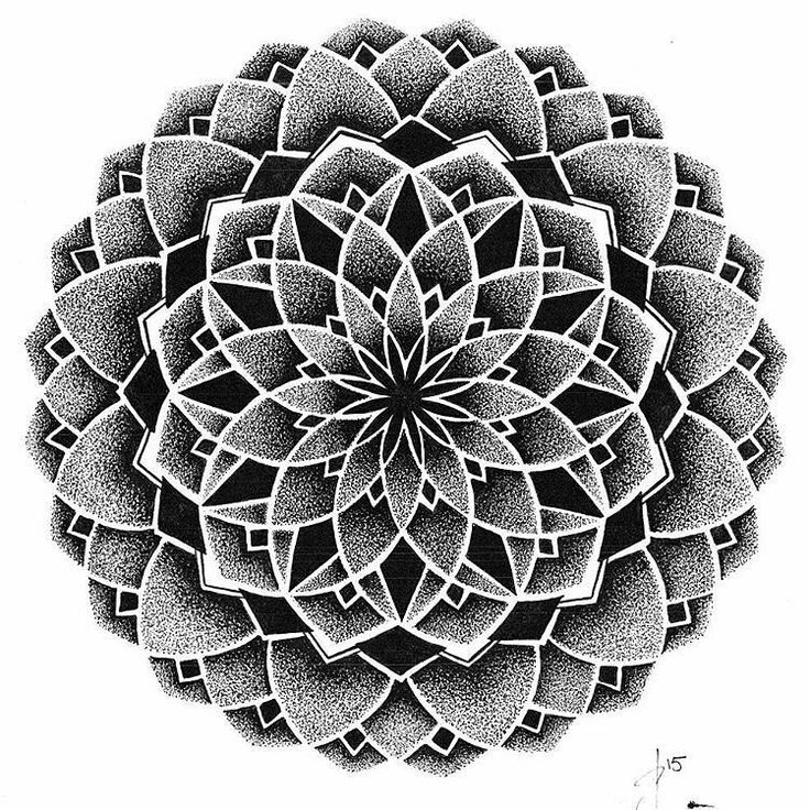 """""""We love this mandala by @belvedearr. Check out and follow this amazing artist! submit your mandala to be featured on this page by using the hashtag: #…"""""""