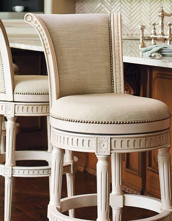 Upholstered Bar Height Chairs Part - 30: Boasting A Solid-birch Hardwood Frame Thatu0027s Available In Four Stunning  Finishes And Top-grain Leather Or Linen Upholstery, The Manchester Swivel Bar  Height ...