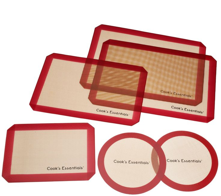 CooksEssentials 6-piece Silicone Baking Mat Set