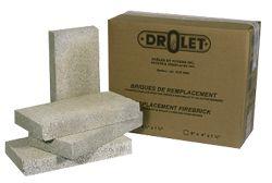 BRIQUE REFRACTAIRE : Brique réfractaire pour remplacement ou construction d'une chambre à combustion. Testé jusqu'à 2000 degrés F.