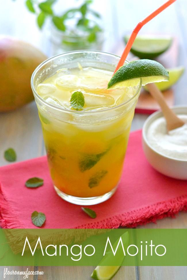 Enjoy a Mango Mojito this summer. A perfect hot afternoon cocktail to sip on by the pool.