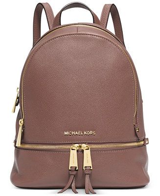 MICHAEL Michael Kors Rhea Zip Small Backpack - a purse without the shoulder strain! Just what I need
