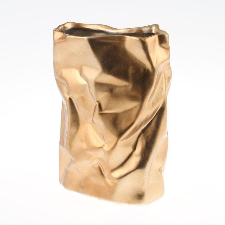 Nice ceramic #vase in mat #gold. www.inart.com