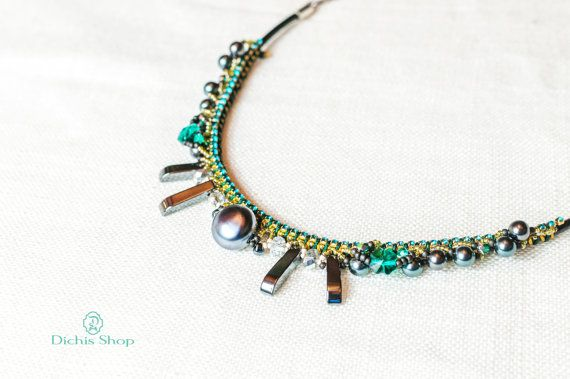 Statement necklace by DichisShop on Etsy