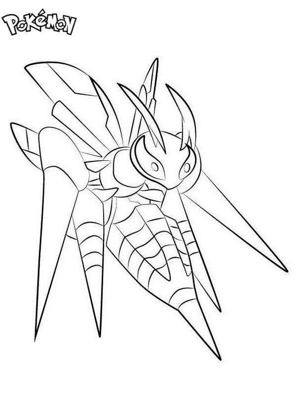 Free Printabe Mega Beedrill Coloring Pages Pokemon Coloring Pages Pokemon Coloring Coloring Pages