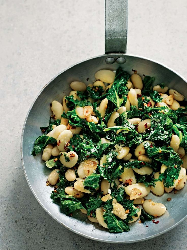 Garlicky white beans with kale and Parmesan by Dale Pinnock from The Medicinal Chef | Cooked