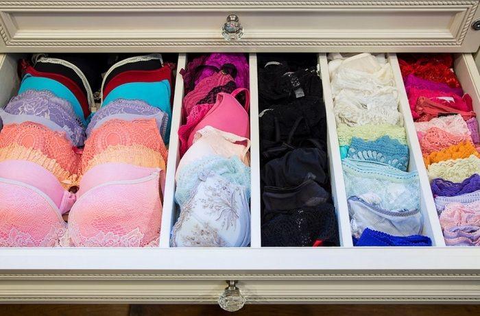 Организованное хранение белья.