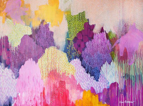 Verano Haze, impresión de Bellas Artes, pintura por Clair Bremner abstracta