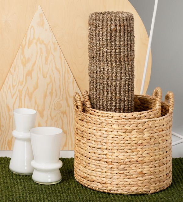 High quality doormats and sustainable  water hyacinth storage baskets to be found at dixie.se