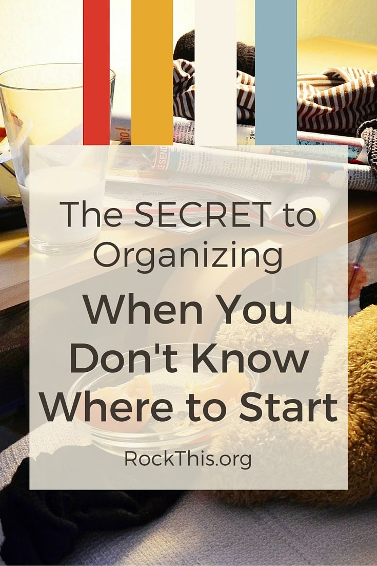 "You know you need to do it. It's time to clean out ""that room."" But where do you start? Here is an actual solution to get you started. And it's doable today! Definitely a read now post!"