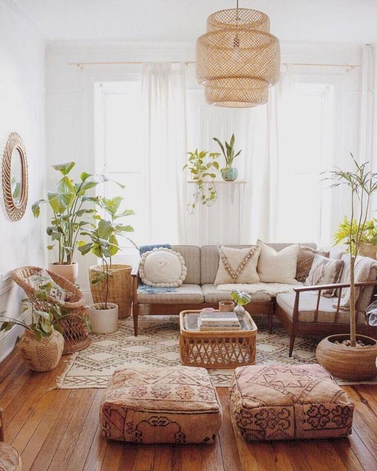 30 Modern Bohemian Living Room Ideas For Small Apartment Homiku Com Bohemian Living Room Decor Modern Bohemian Living Room Bohemian Living Rooms